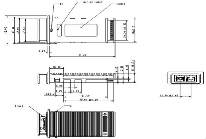 SPT-X2-ZR 10Gb 1550nm SM X2 ZR Transponder